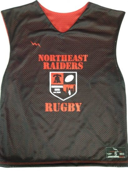 northeast raiders rugby pinnies