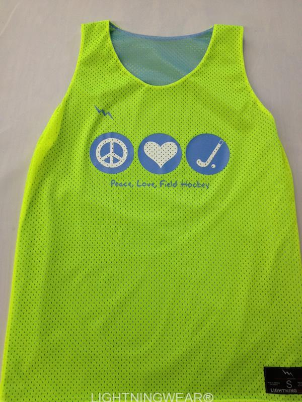 peace love field hockey pinnie