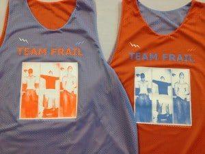 Team Frail Basketball Pinnies