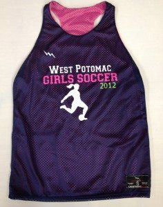 west potomac girls soccer pinnies
