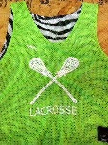 Zebra Print Lacrosse Pinnies