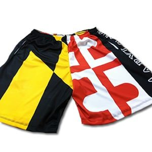maryland flag lacrosse shorts