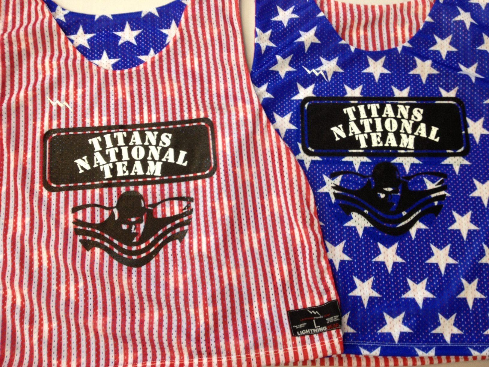 titans nation team pinnies - american flag pinnies