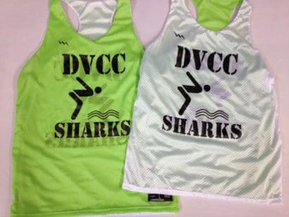 dvcc sharks swim pinnies
