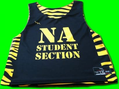 na student section pinnies - sublimated pinnies