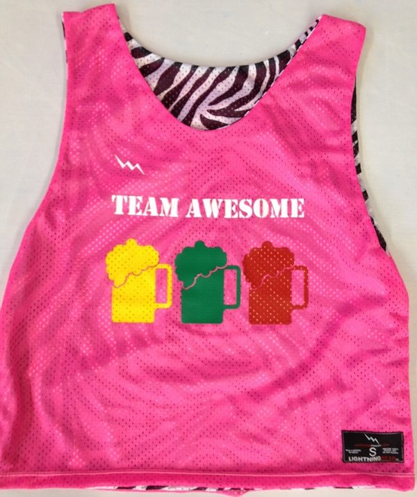 team awesome pinnies