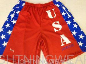 Red USA Lacrosse Shorts