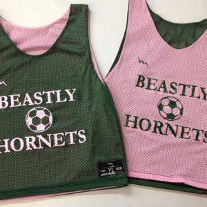 beastley hornets soccer pinnies