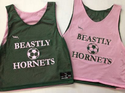 beastley hornets soccer pinnies