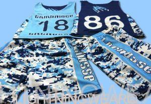 camo print sublimated lacrosse uniforms