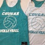 Cougar Volleyball Pinnies – Womens Racerback Pinnies
