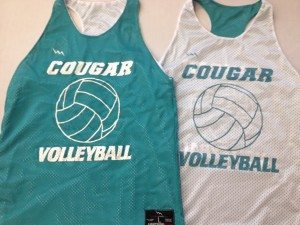 cougar volleyball pinnies