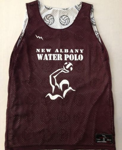 new albany water polo pinnies