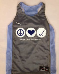 peace love field hockey pinnies