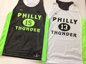 philly thunder lacrosse pinnies