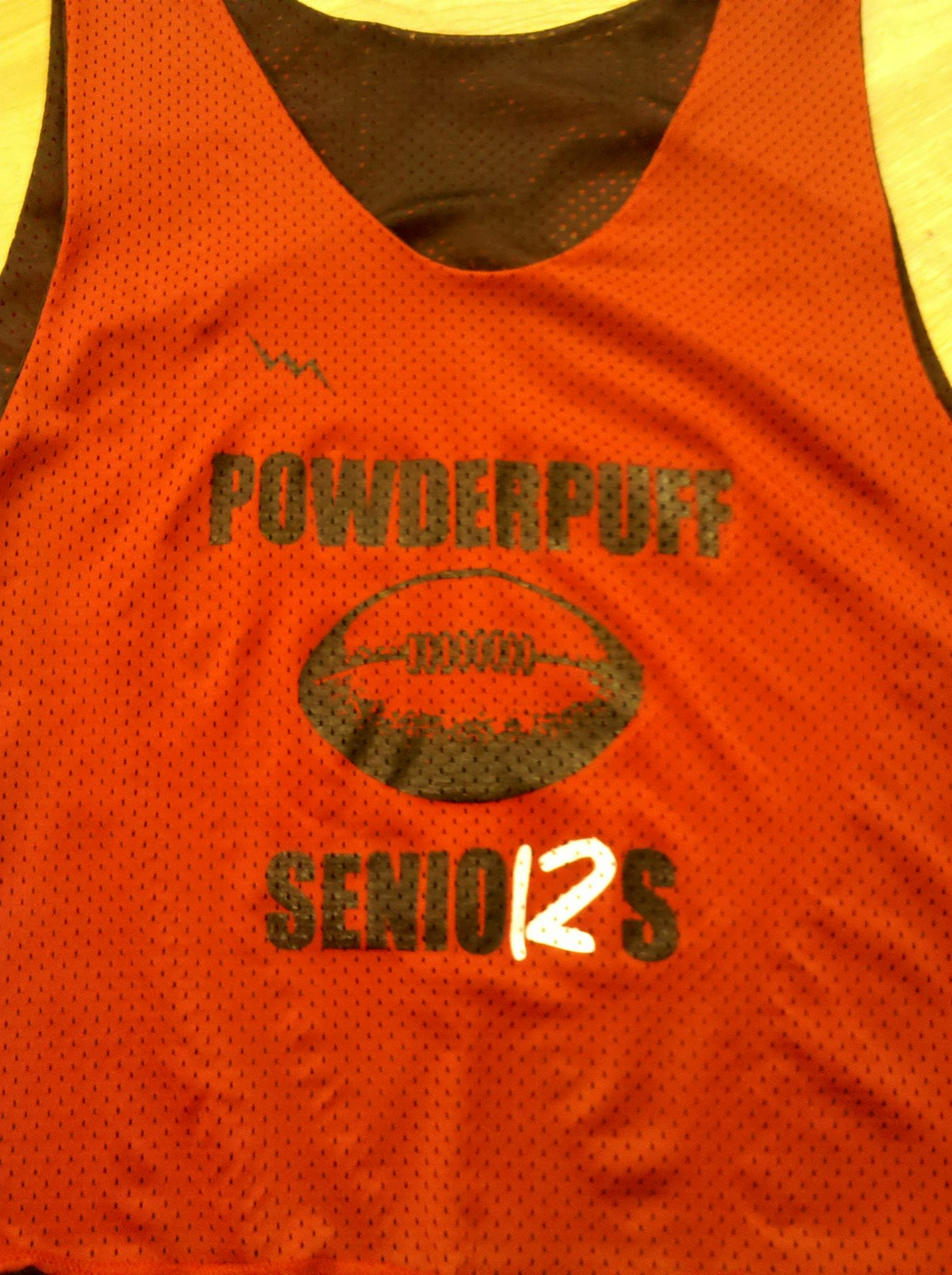 senior powder puff pinnies