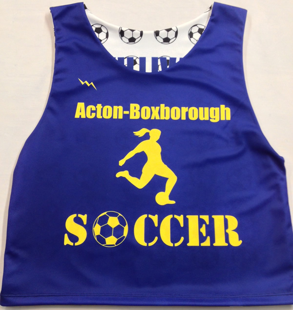 06710dc5514 Acton Boxborough Soccer Pinnies   Sublimated Soccer Uniforms