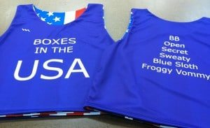 Boxes USA pinnies - American Flag Pinnies - Custom Pinnies
