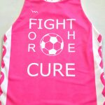 Girls Cancer Ribbon Soccer Pinnies