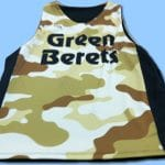 Green Berets Basketball Pinnies – Sublimated Basketball Pinnies
