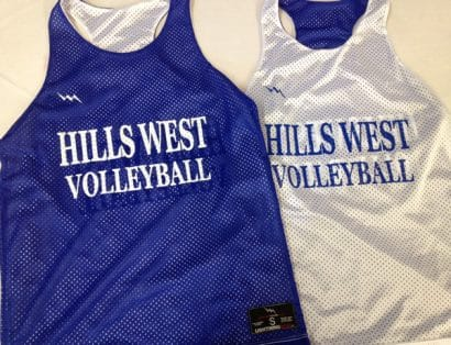 hillwest volleyball pinnies