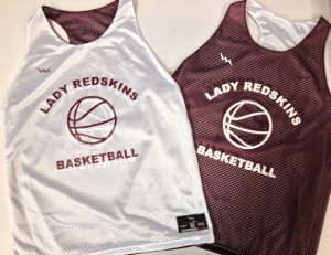 lady redskins basketball pinnies
