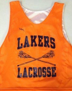 Lakers Lacrosse Pinnies - Custom Lax Pinnies