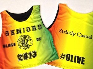 sublimated seniors pinnies