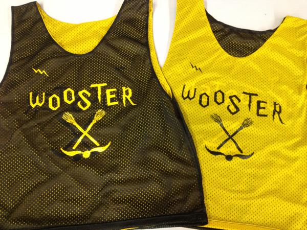 Wooster Lacrosse Jerseys   Custom Black Gold Lacrosse Pinnies 132ca75cc