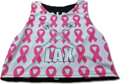 cancer ribbon lax pinnies