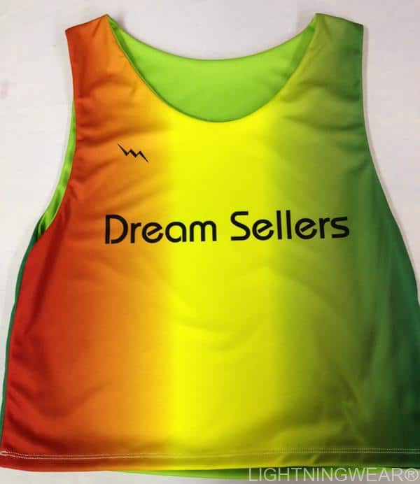 dream sellers sublimated pinnies