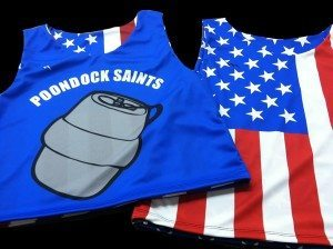 American Flag Sublimated Pinnies