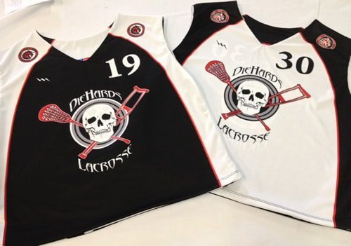 diehards lacrosse pinnies