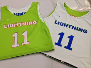 lightning lacrosse pinnies
