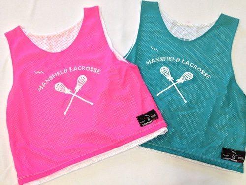 mansfield lacrosse pinnies