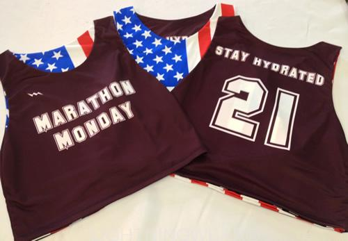 marathon monday pinnies