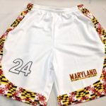 Maryland Flag White Basketball Shorts