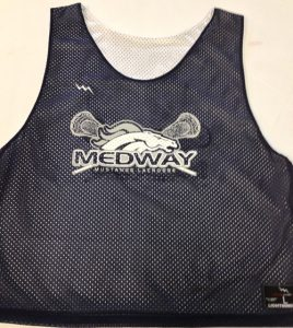 Medway Mustangs Lacrosse Pinnies