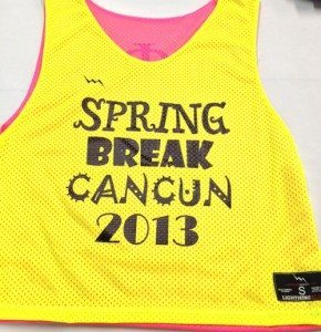 spring break cancun pinnies