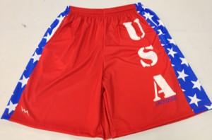 USA team lacrosse shorts