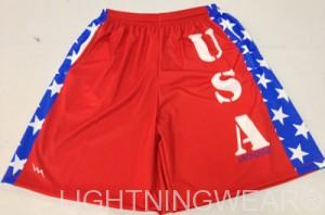 American Flag Lacrosse Shorts