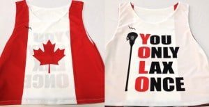 Canada Flag Lacrosse Pinnies