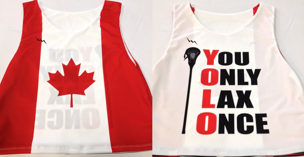 yolo lacrosse pinnies