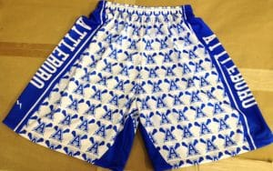 Dye Sublimation Lacrosse Shorts