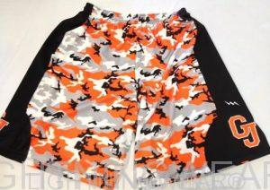 camo sublimated lacrosse shorts
