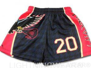 girls sublimated lacrosse shorts