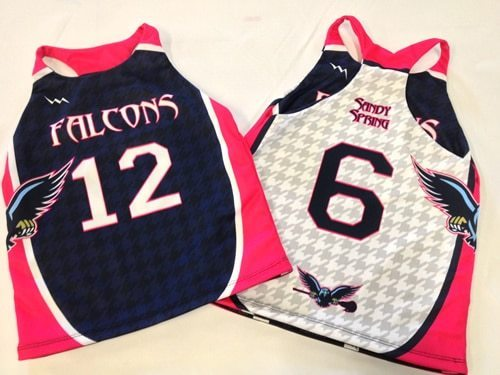 lady falcons lacrosse pinnies