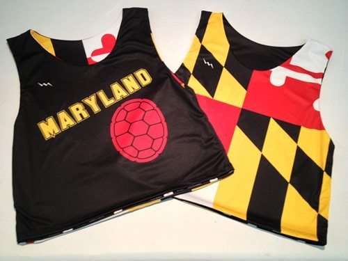 maryland lacrosse pinnies - Maryland Flag Pinnies