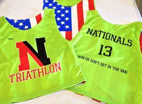 nationals triathalon pinnies