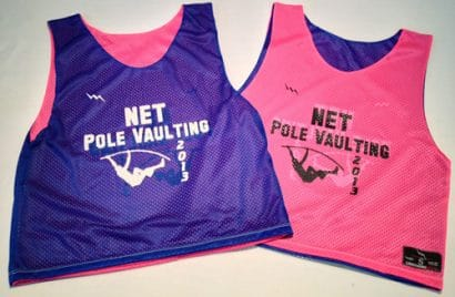 net pole vaulting pinnies